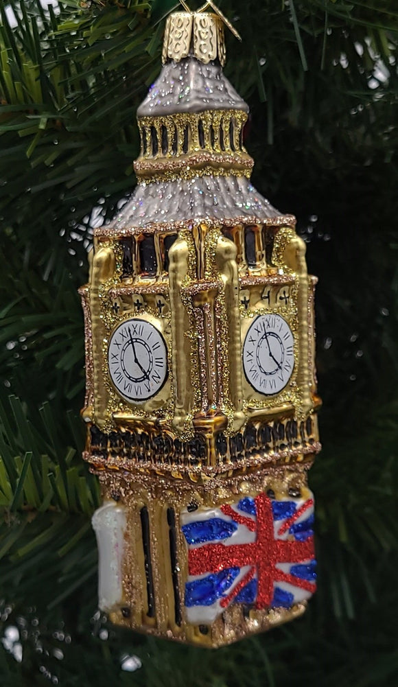 Blown Glass Big Ben Christmas Ornament - Schmidt Christmas Market Christmas Decoration