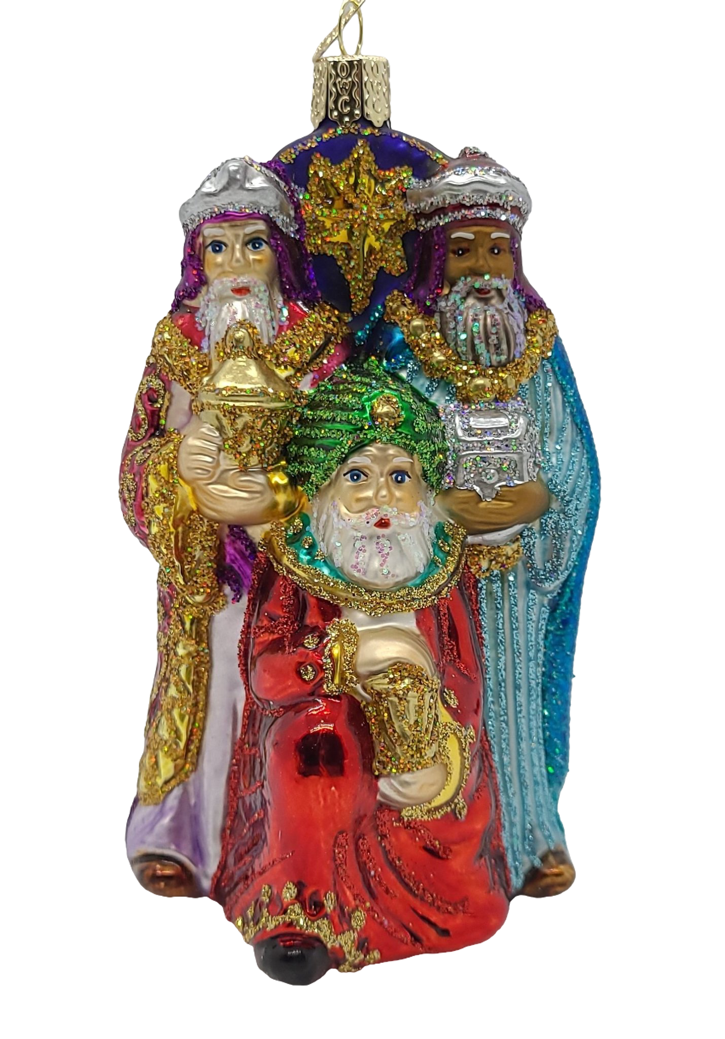 Blown Glass Collectable Nativity Collection Christmas Ornaments in a Keepsake Box - Schmidt Christmas Market Christmas Decoration