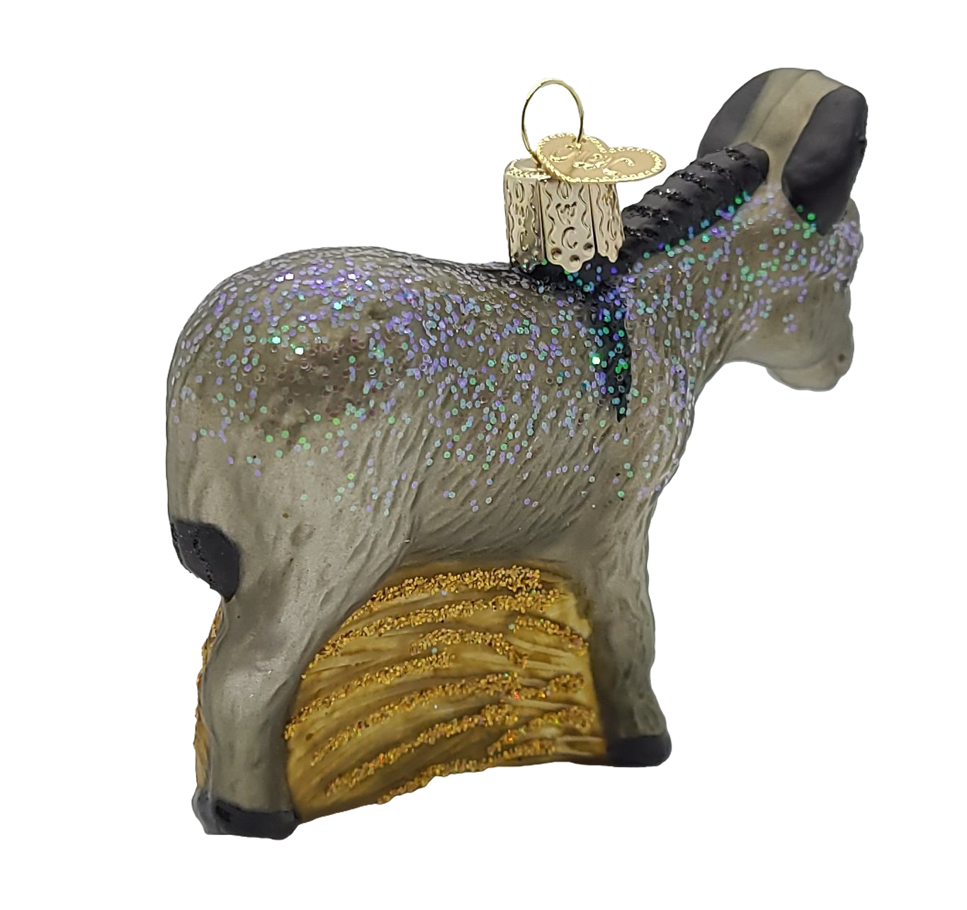 Blown Glass Donkey Ornament - Schmidt Christmas Market Christmas Decoration