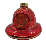 Blown Glass Fireman's Hat Ornament - Schmidt Christmas Market Christmas Decoration