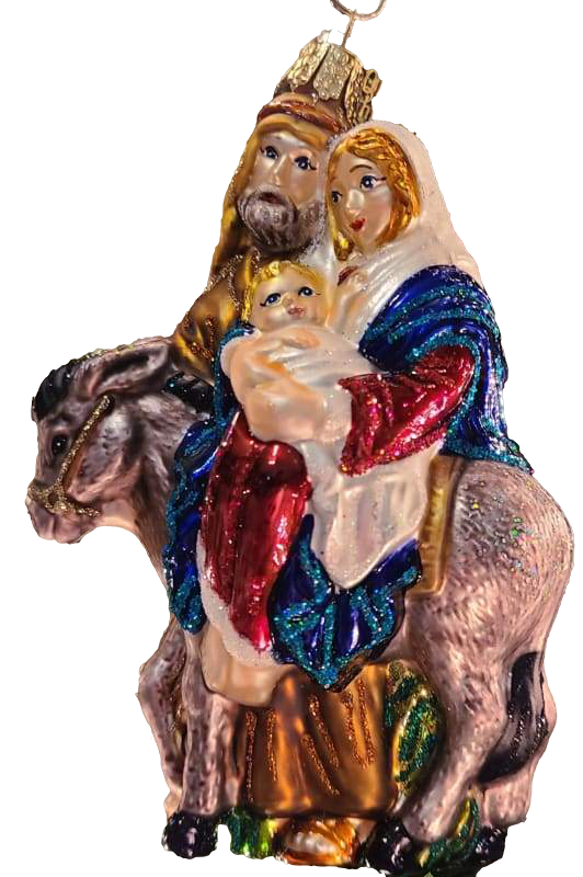 Blown Glass Flight to Egypt Christmas Ornament - Schmidt Christmas Market Christmas Decoration
