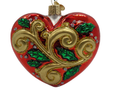 Blown Glass Hanging 2021 First Christmas Heart Ornament - Schmidt Christmas Market Christmas Decoration