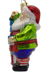 Blown Glass Hanging 2021 Santa Christmas Ornament - Schmidt Christmas Market Christmas Decoration