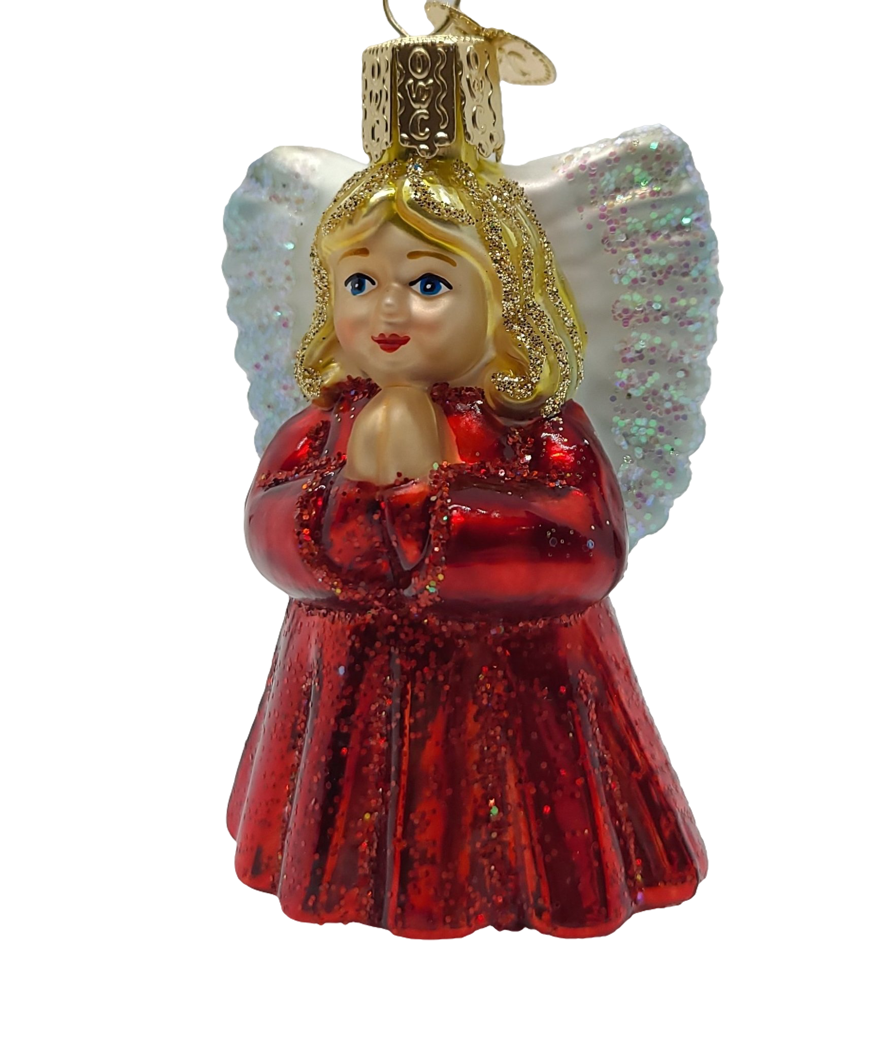 Blown Glass Hanging Angel Baby Christmas Ornament - Schmidt Christmas Market Christmas Decoration