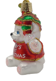 Blown Glass Hanging Baby's 1st Christmas Ornament - Schmidt Christmas Market Dekorasyon ng Pasko