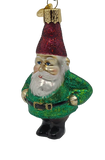 Blown Glass Hanging Gnome Christmas Ornament - Schmidt Christmas Market Christmas Decoration