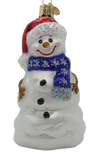 Blown Glass Hanging Happy Snowman Christmas Ornament - Schmidt Christmas Market Christmas Decoration