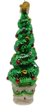 Blown Glass Hanging Holiday Topiary Ornament - Schmidt Christmas Market Christmas Decoration