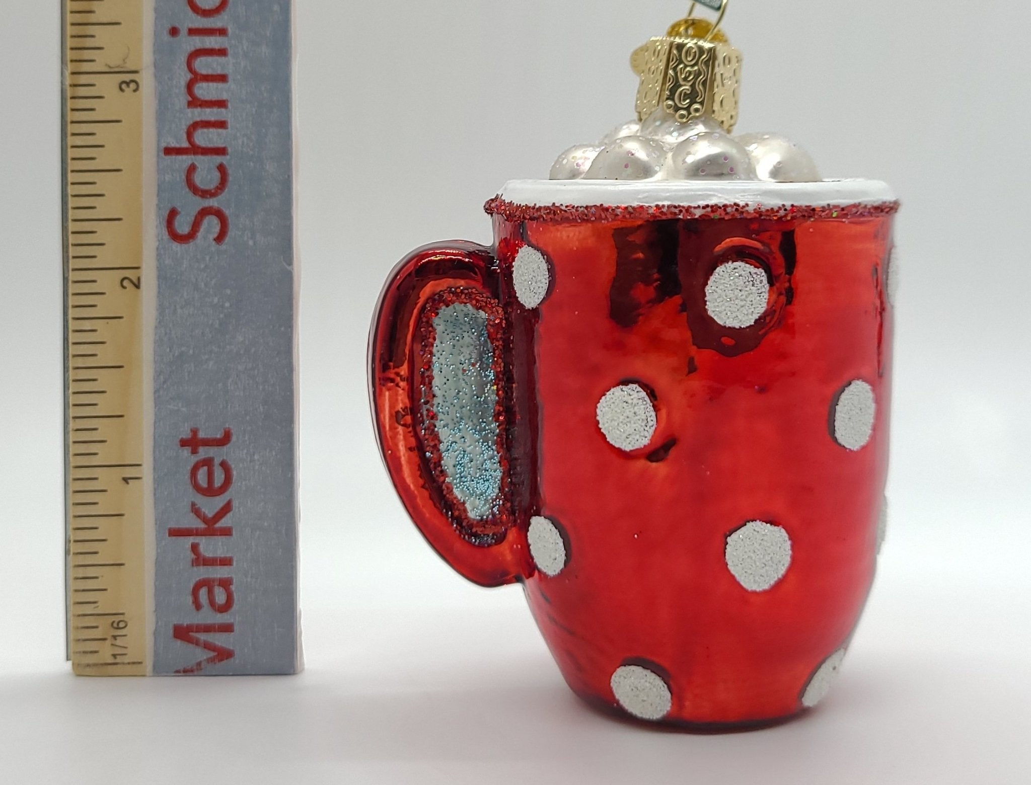 Blown Glass Hanging Hot Cocoa Christmas Ornament - Schmidt Christmas Market Christmas Decoration