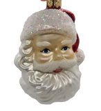 Blown Glass Hanging Mid-siglo Santa Head Christmas Ornament - Schmidt Christmas Market Christmas Decoration