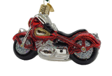 Blown Glass Hanging Motorcycle Christmas Ornament - Schmidt Christmas Market Christmas Decoration
