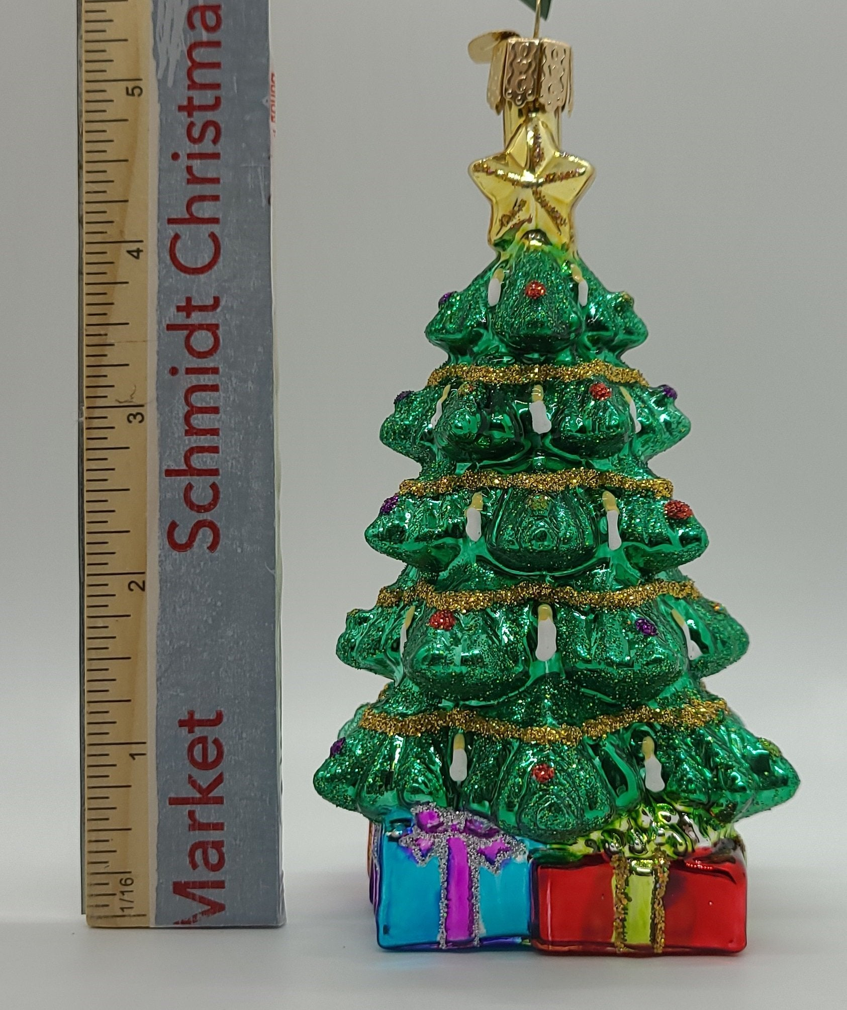 Blown Glass Hanging Radiant Christmas Tree Christmas Ornament - Schmidt Christmas Market Christmas Decoration