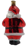 Blown Glass Hanging Santa Revealed Christmas Ornament - Schmidt Christmas Market Christmas Decoration