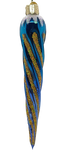 Blown Glass Hanging Shimmering Blue Icicle Christmas Ornament - Schmidt Christmas Market Christmas Decoration