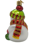 Blown Glass Hanging Snowman With Cocoa Christmas Ornament - Schmidt Christmas Market Christmas Decoration
