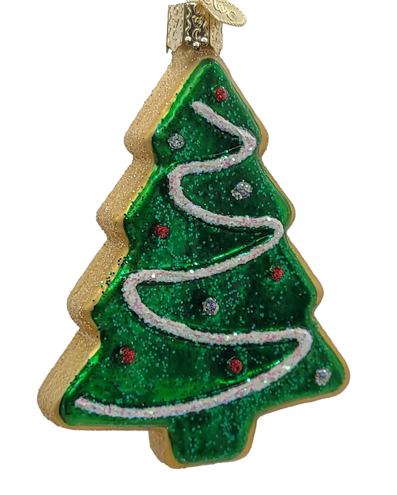 Blown Glass Hanging Tree Sugar Cookie Christmas Ornament - Schmidt Christmas Market Christmas Decoration
