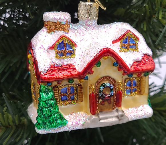 Blown Glass Holiday Home Christmas Ornaments - Schmidt Christmas Market Christmas Decoration