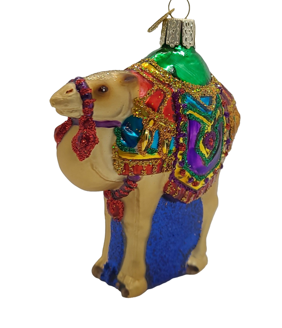Blown Glass Magi's Camel Ornament - Schmidt Christmas Market Christmas Decoration
