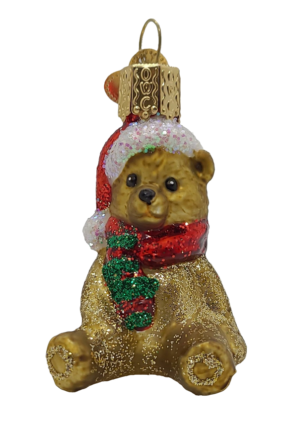 Blown Glass Mini Bear Hanging Christmas Ornament - Schmidt Christmas Market Christmas Decoration