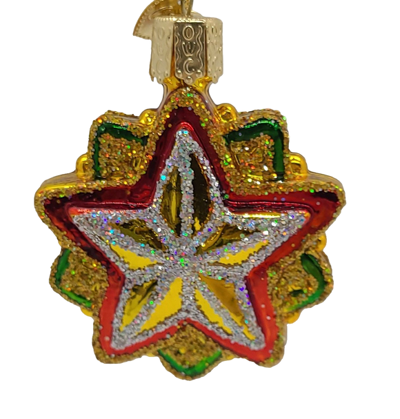 Blown Glass Mini Star Hanging Christmas Ornament - Schmidt Christmas Market Christmas Decoration