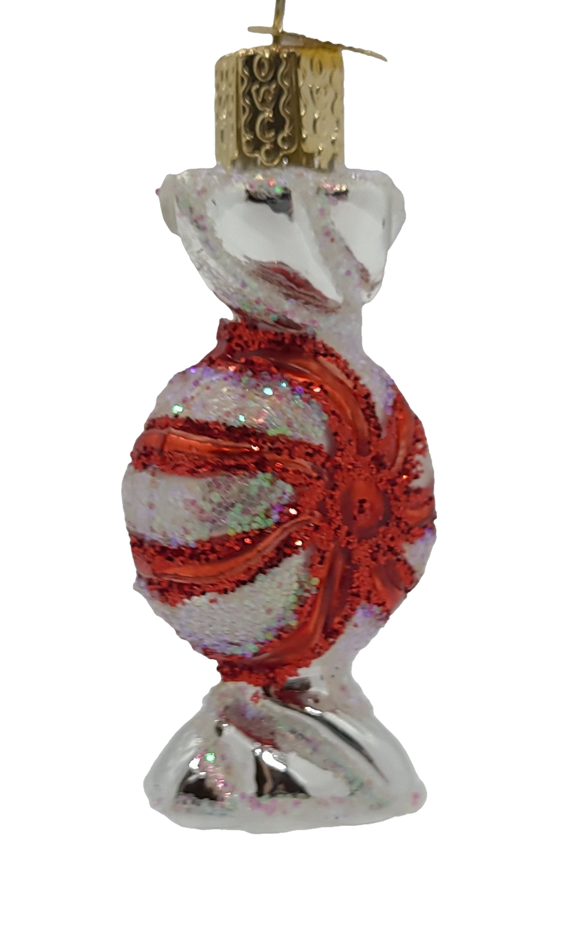 Blown Glass Peppermint Candy Christmas Ornaments - Schmidt Christmas Market Christmas Decoration