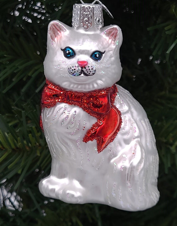 Blown Glass Princess Kitty Christmas Ornament - Schmidt Christmas Market Christmas Decoration