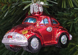 Blown Glass Red Buggy Christmas Ornament - Schmidt Christmas Market Christmas Decoration
