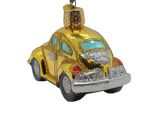 Blown Glass Yellow Buggy Christmas Ornament - Schmidt Christmas Market Christmas Decoration