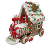 Claydough Lighted LED Gingerbread Train, 3 Piece Set - Schmidt Christmas Market mapambo ya Krismasi