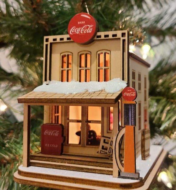 Coca-Cola Country Store Cottage - Schmidt Christmas Market Christmas Decoration
