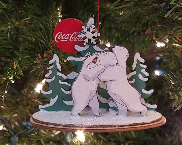 Coca-Cola Polar Bear Hug - Schmidt Christmas Market Christmas Decoration
