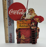 Coca-Cola Sparkling Holiday Santa Ornament - Schmidt Christmas Market Christmas Decoration