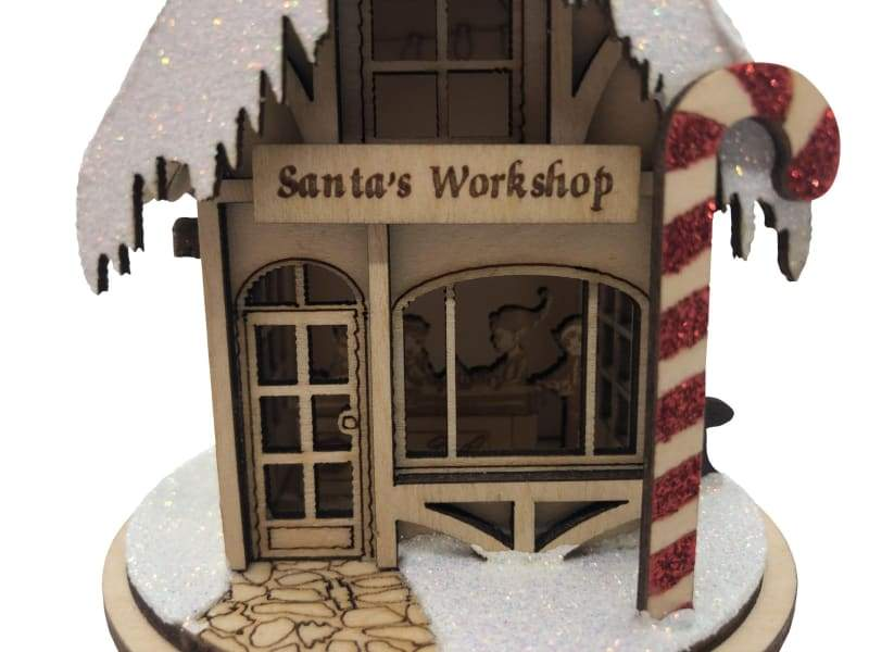 Cottage - Workshop ni Santa - Schmidt Christmas Market Dekorasyon ng Pasko
