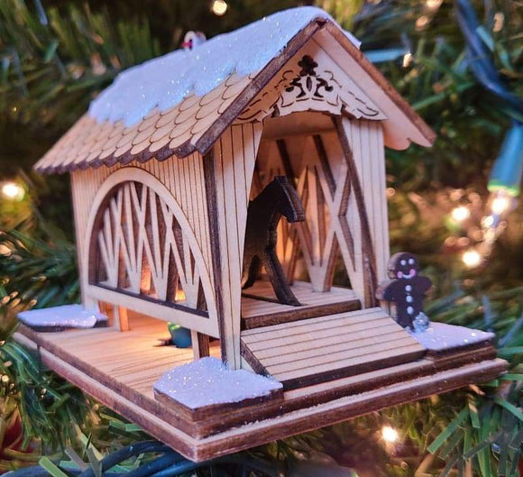 Cover Ginger Bridge- Horse and Buggy - Schmidt Christmas Market Christmas Decoration