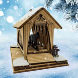 Covered Ginger Bridge - Horse and Buggy - Schmidt Christmas Market Christmas Decoration