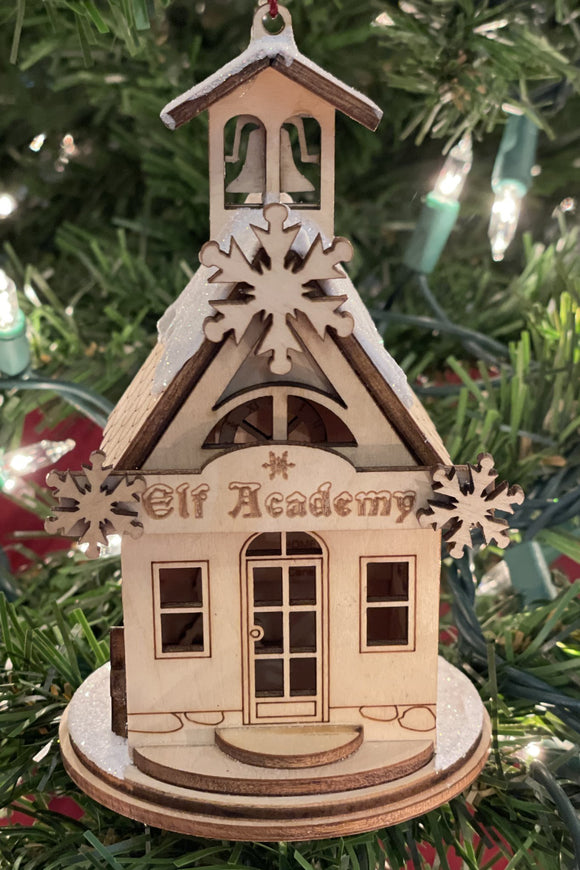 Elf Academy Schoolhouse - Schmidt Christmas Market Christmas Decoration