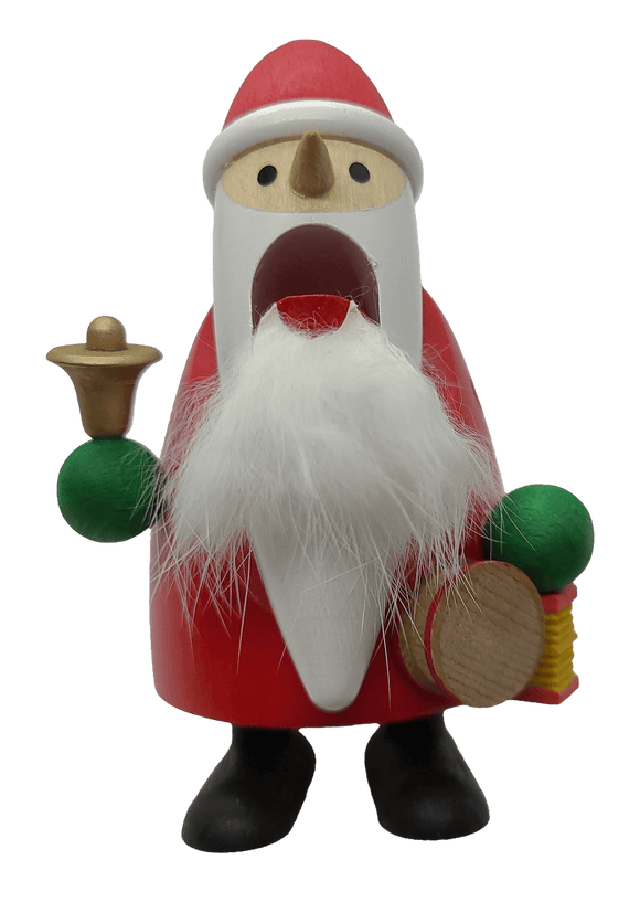 German Hand Made Long beard Santa with bell Nutcracker - Schmidt Christmas Market Christmas Decoration