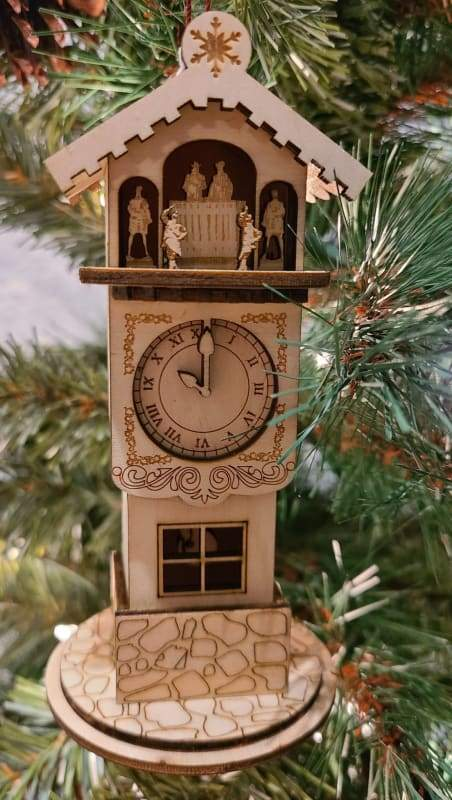 Ginger Clock Tower - Schmidt Christmas Market Christmas Decoration