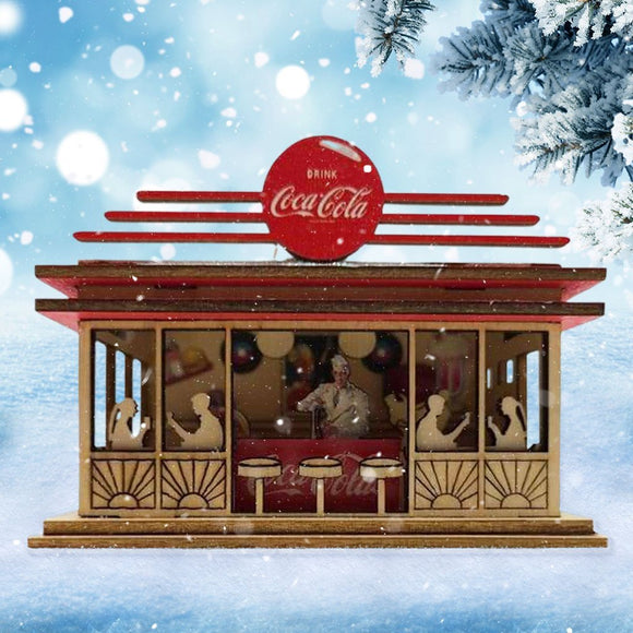 Ginger Cottage Coca-Cola Soda Shop - Schmidt Christmas Market Christmas Decoration