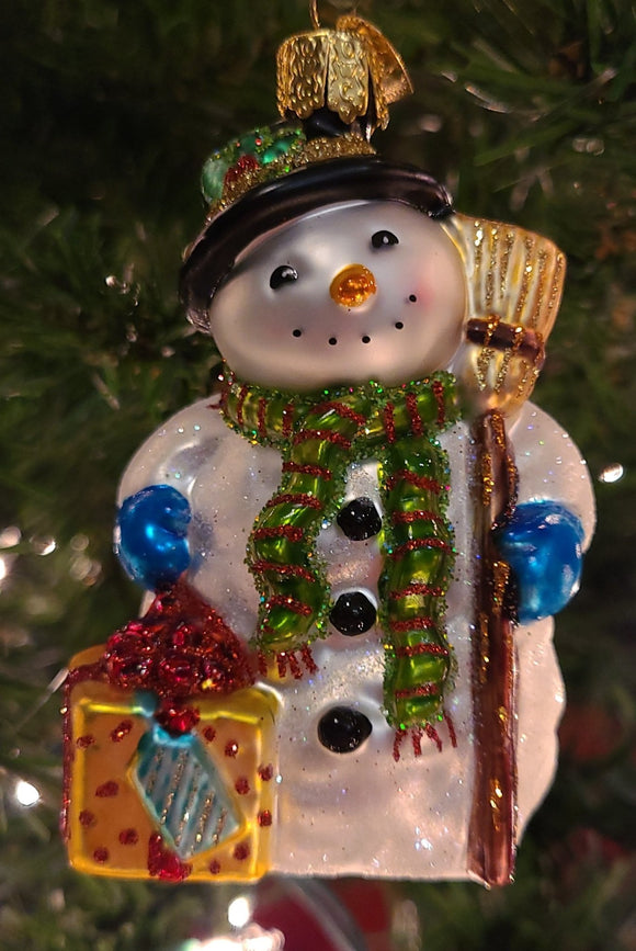 Gleeful Snowman Ornament - Schmidt Christmas Market Christmas Decoration