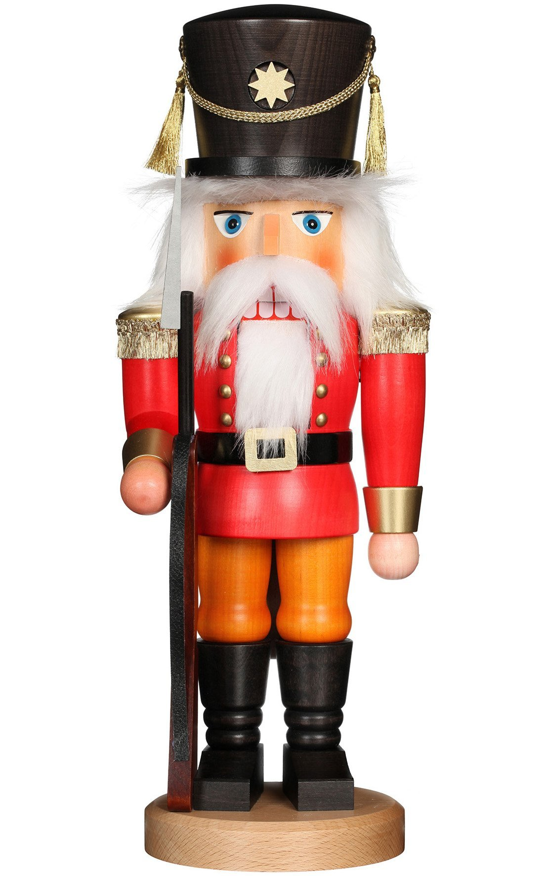 Handcrafted German 17 Inch Christian Ulbricht Nutcracker - Red soldier with rifle - Schmidt Christmas Market Christmas Decoration