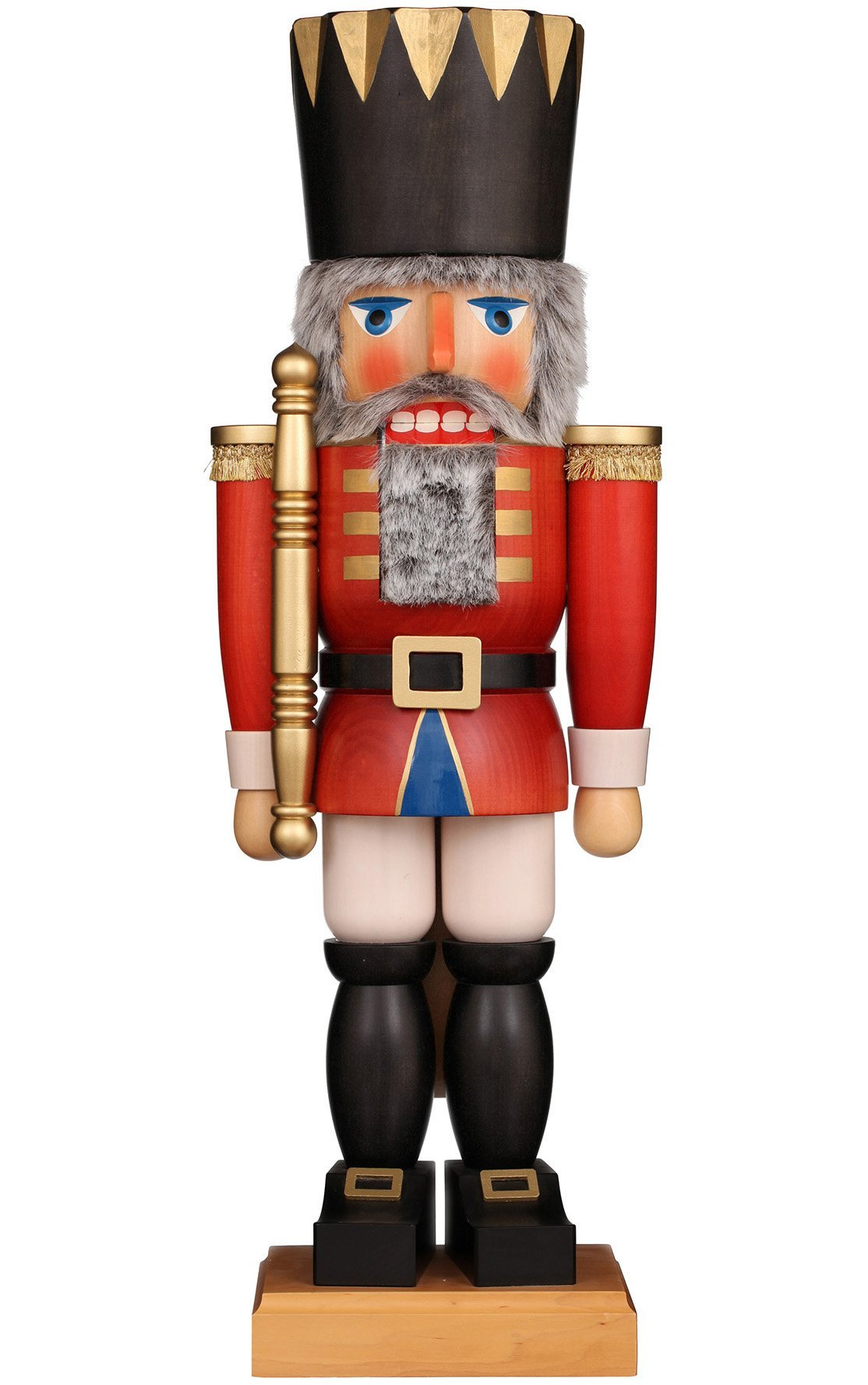 Handcrafted German 28 Inch Christian Ulbricht Nutcracker - Extra Large Red King - Schmidt Christmas Market Christmas Decoration