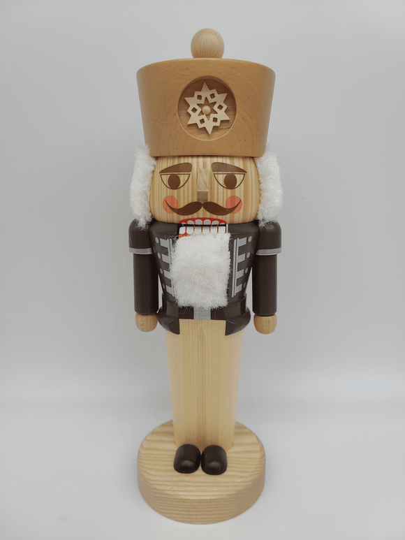 Handmade 12 Inch Traditional Nutcracker in Natural Wood - Schmidt Christmas Market Christmas Decoration
