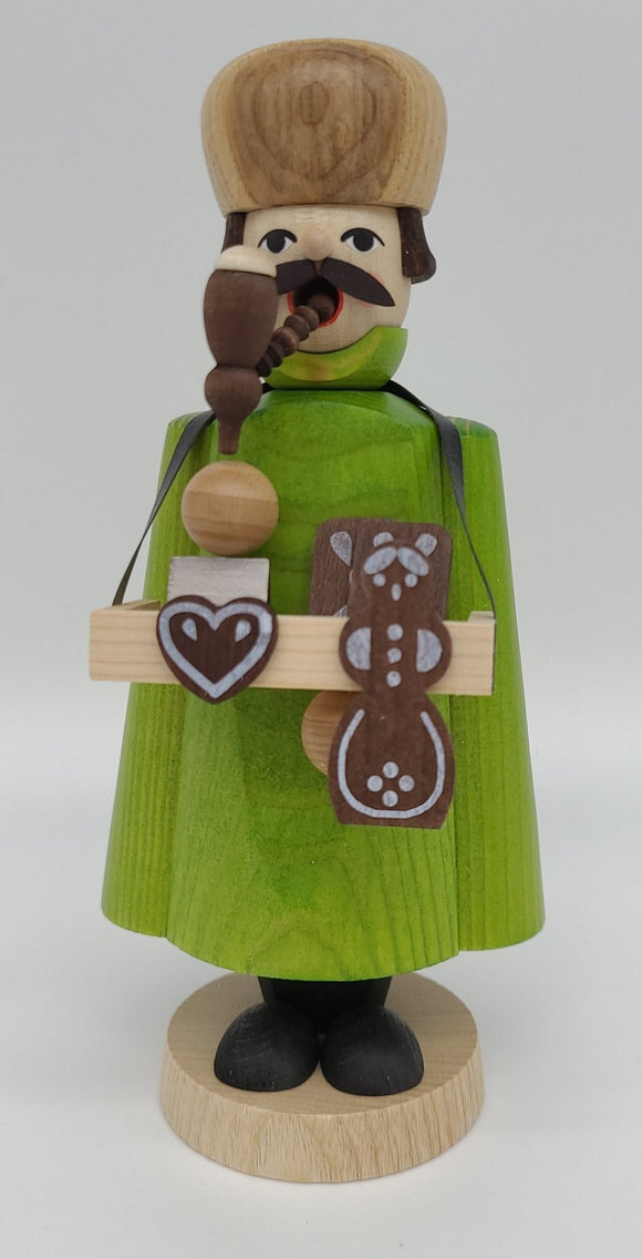Handmade 7 Inch Smoker Ginger Bread Seller - Schmidt Christmas Market Christmas Decoration