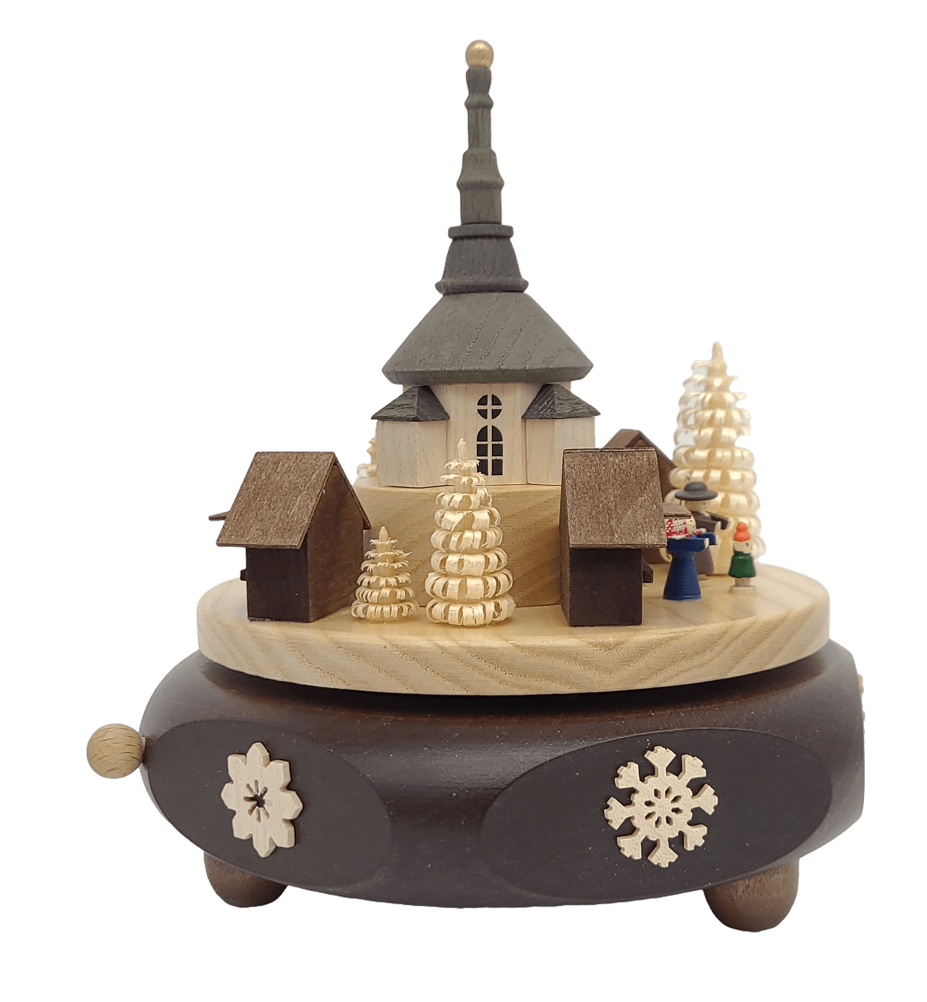 Handmade German 6.3 inch Musical Seiffener na may Kilusan - Sweet Bells - Schmidt Christmas Market Christmas Decoration