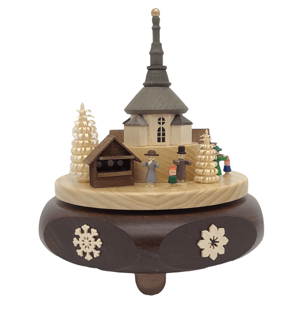 Handmade German 6.3 inch Musical Seiffener with Movement - Sweet Bells - Schmidt Christmas Market Christmas Decoration