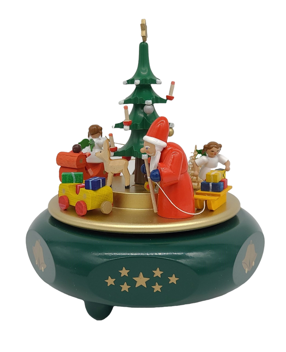Handmade German 6.7 inch music box Christmas dreams - Sweet Bells - Schmidt Christmas Market Christmas Decoration