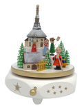 Handmade German 6.7 inch music box Music box Seiffen Christmas Mass with the Song Sweet Bells - Schmidt Christmas Market Christmas Decoration