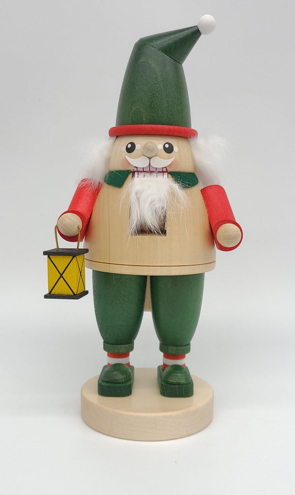 Handmade German 9 inch Nutcracker dwarf with lantern - Schmidt Christmas Market Christmas Decoration