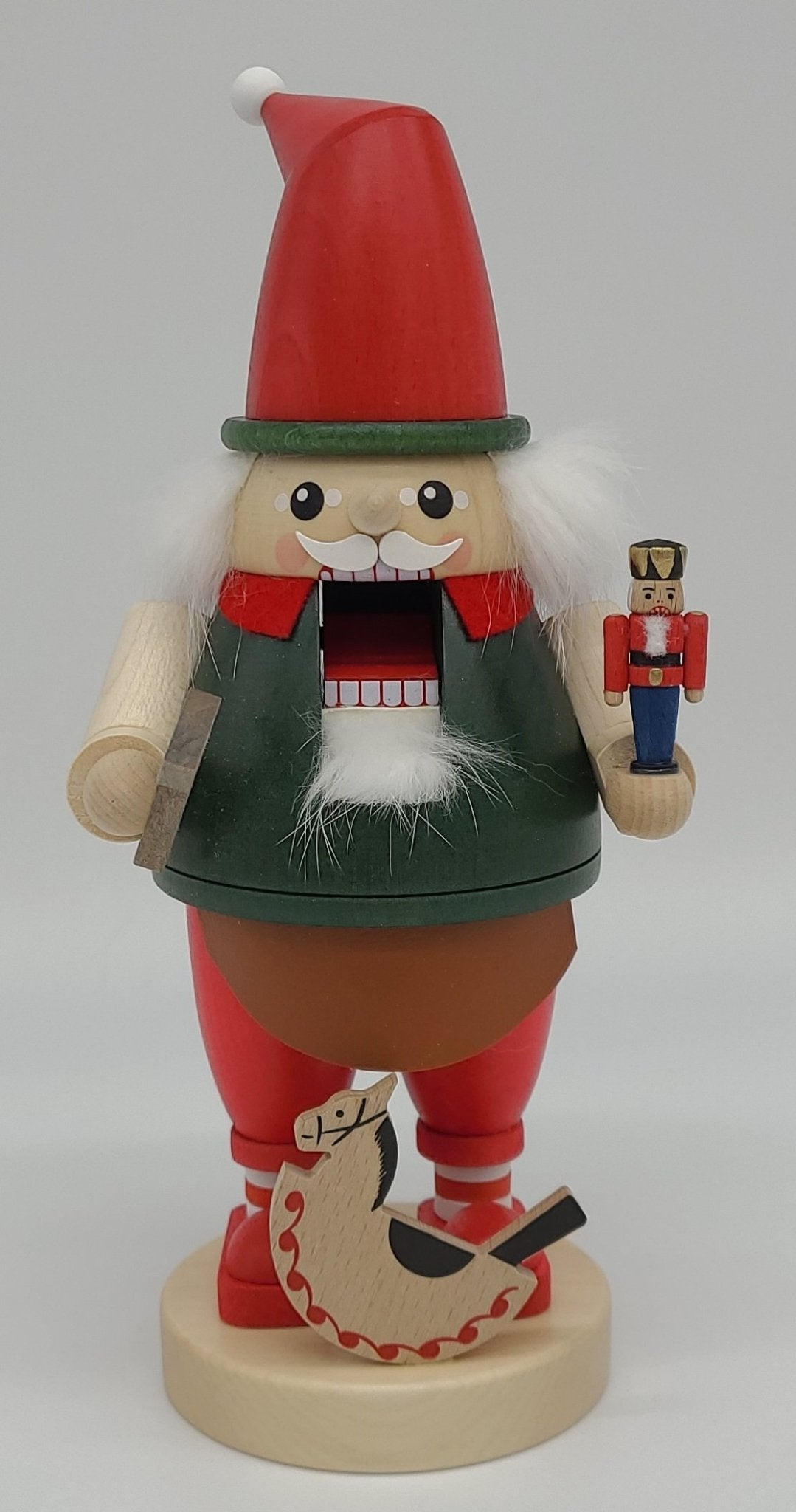 Handmade German 9 inch Nutcracker dwarf with nutcracker - Schmidt Christmas Market Christmas Decoration
